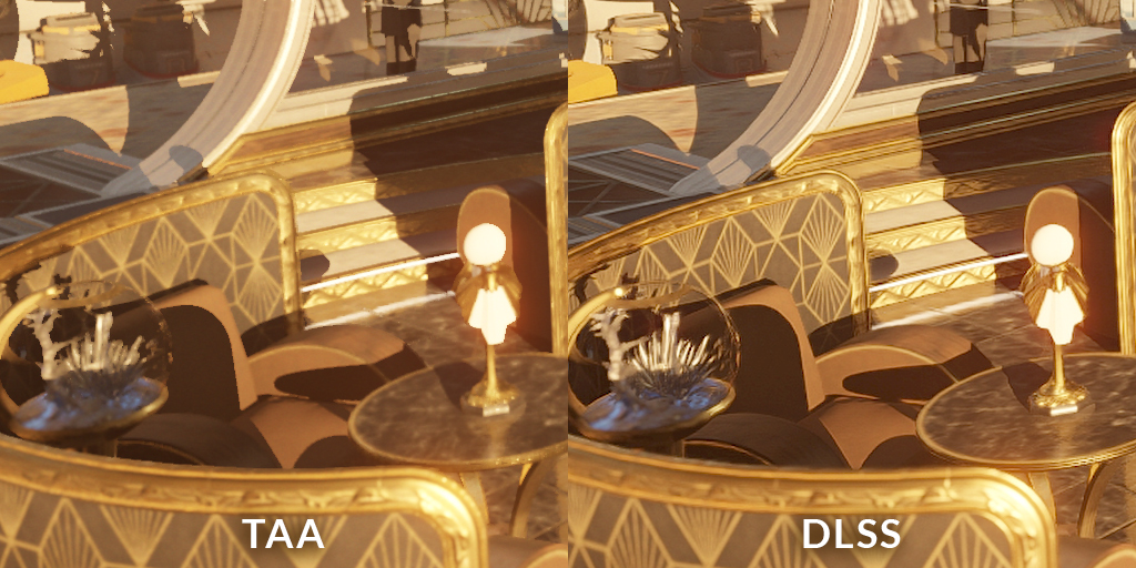 TAA vs DLSS comparison using 3DMark NVIDIA DLSS feature test