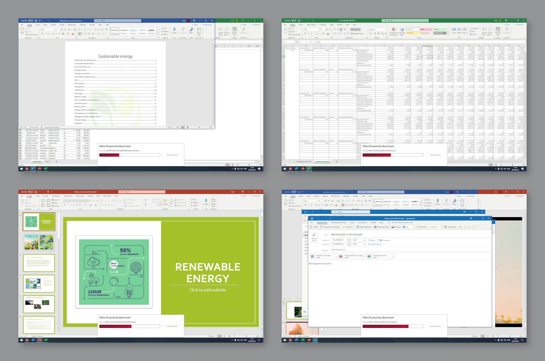UL Procyon Office Productivity Benchmark uses Microsoft Word, Excel, PowerPoint and Outlook