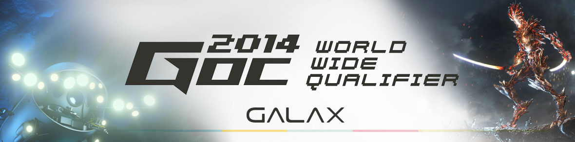 Galax GOC 2014 Worldwide Qualifier competition banner