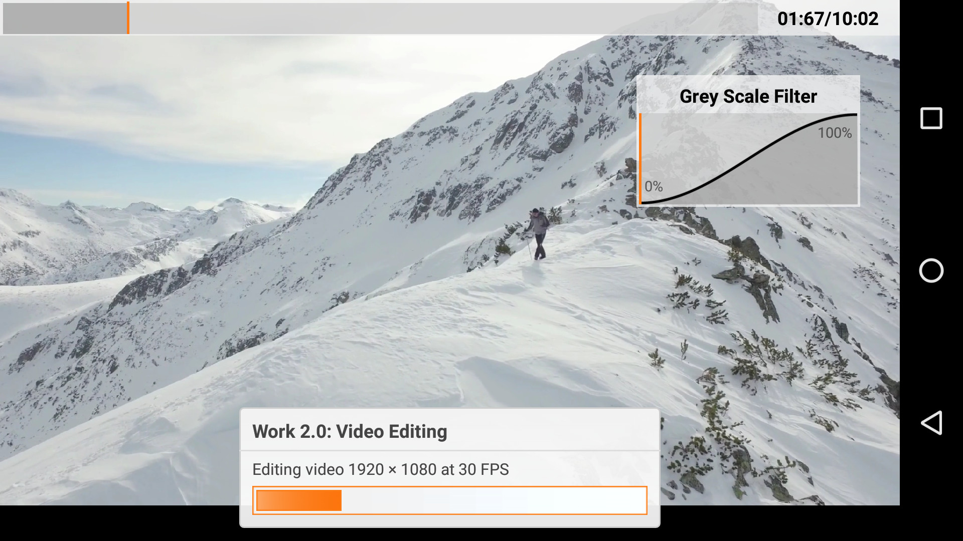 PCMark for Android Work 2.0 Video Editing test