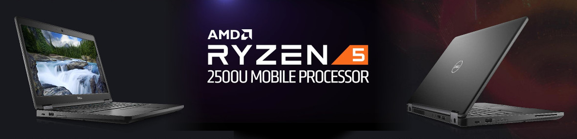 AMD Ryzen 5 PRO Mobile 2500U-Prozessor im Dell Latitude 5495-Notebook